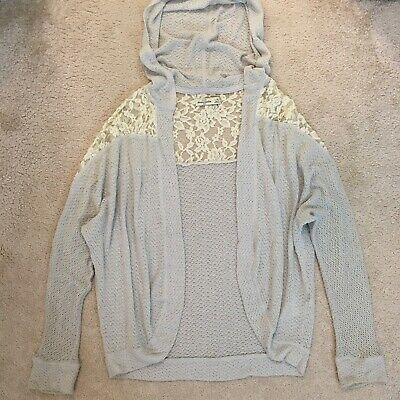Abercrombie & Fitch Kids Girl's Grey Lace Cardigan Size L/XL Age 14-16 Years