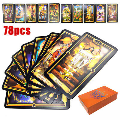 78pcs  60mm*103mm Tarot Deck Cards Guidance of Fate Playing Game Cards Set