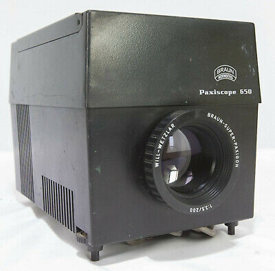BRAUN Paxiscope 650 Watt Opaque Projector Epidioscope Artograph Drawing Enlarger