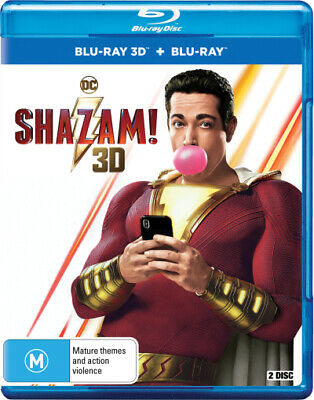 Shazam! (3D Blu-Ray/Blu-Ray) (2019) [New Bluray]