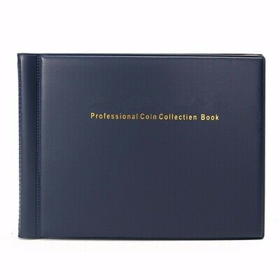 120 Coin Holders Collecting Collection Storage Money Pockets Penny Album Book AU