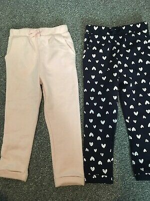 George Girls 2 Pair Of Jogging Bottoms 3-4