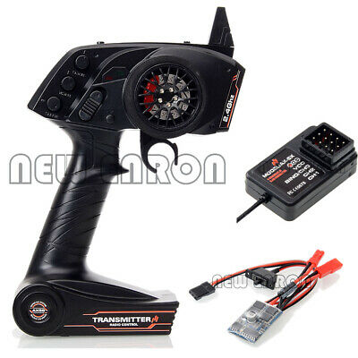 RC 3CH Remote Control Receiver 10A Brushed ESC For 1/10 Rock Crawler Car Boat