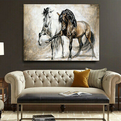 Retro Horse Abstract Oil Canvas Painting Hanging Picture No Frame Home Art Decor