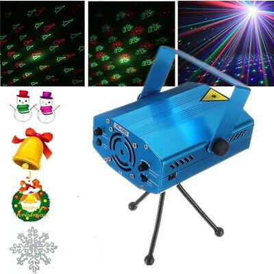 6in1 Mini Projector R&G DJ Disco Light Stage Lighting Xmas Party Laser Show Club