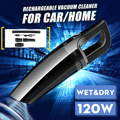 120W Rechargeable Cordless Wet Dry Car Vacuum Cleaner Portable Home Cleaning