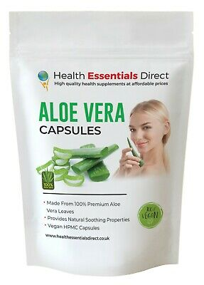 Aloe Vera Capsules (Not Tablets) 640mg, Organic, Detox, Digestion, Colon Cleanse