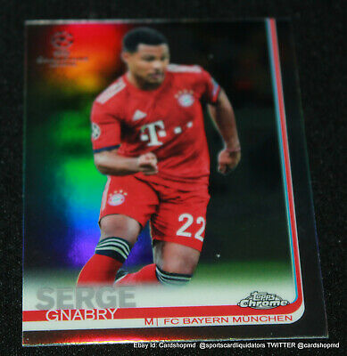 2018-19 Topps Chrome Uefa Champions League Soccer Refractor #53 Serge Gnabry