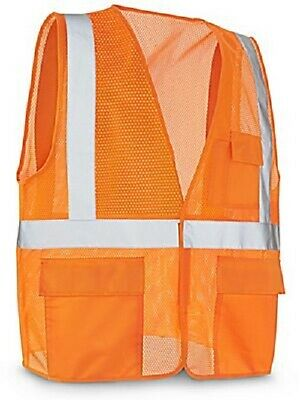 Uline Standard Saftey Vest with Pockets L/XL Orange