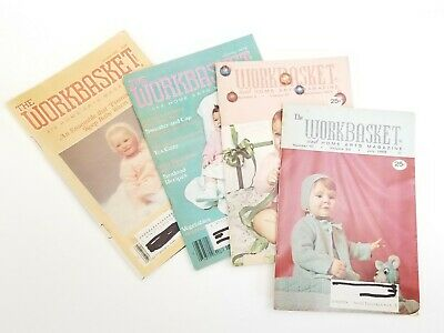 Workbasket and Home Art Magazine, Baby outer sweaters, July 68, Dec 71,Jan 78,86