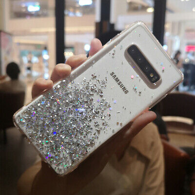 Bling Glitter Case For Samsung Galaxy S10 S8 S9 Clear Gel Soft Phone Case Cover