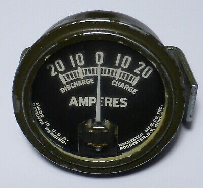 Original Jeep AMMETER 1943-1944 made by Rochester for radio jeep 24 volts - RARE
