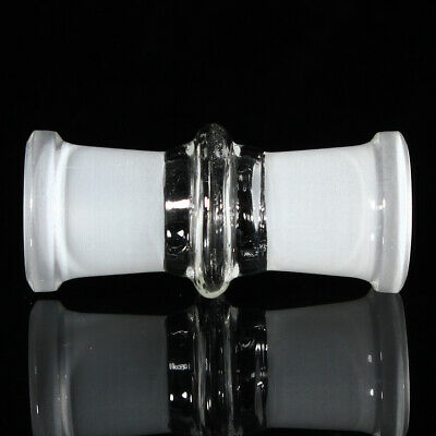 18mm Female To 18mm Female Clear Glass Expander Reduce Adapter Connector