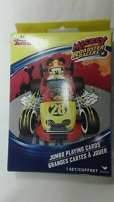 DISNEY MICKEY MOUSE /& THE ROADSTER RACERS JUMBO PLAYING CARDS SET,AGES 4+,NEW