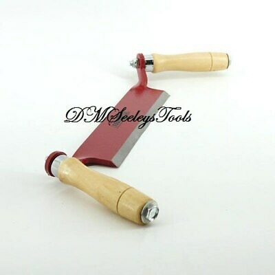 Draw Shave Knife Sharp Burgundy Hand Tool Blade Of Carbon Steel & Free Shipping