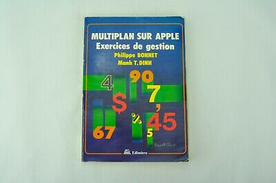 Livre Apple Macintosh - Multiplan sur Apple - Exercices de gestion, 1984