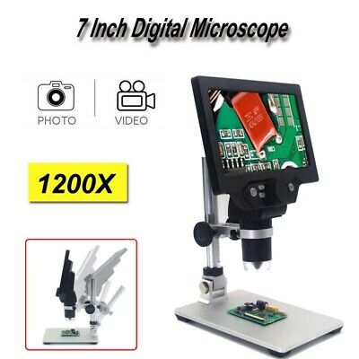 Digital Microscope 1200X FHD LCD 7 Inch Video Amplification Endoscope Magnifier