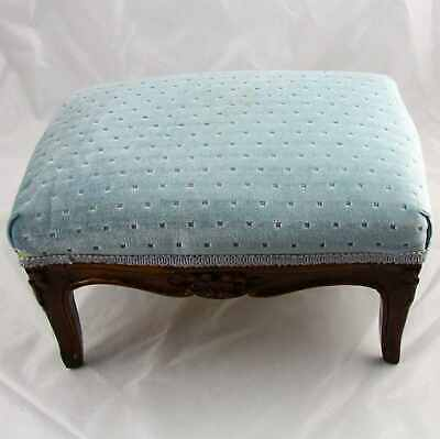 Antique French Louis XV Carved Walnut Foot Rest Footstool
