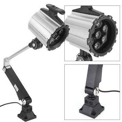 7W LED Long Arm Work Light Adjustable Emergency Lamp With Screw For Lathe CNC