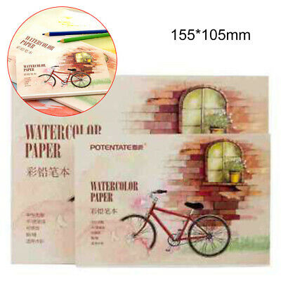 12 Sheets Watercolour Paper Artist Sketchbook Journal Drawing Painting Art Set