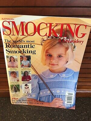 Australian Smocking Pattern Book Magazine Baby Girl Dresses Embroidery