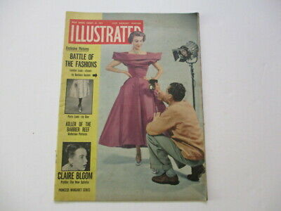 ILLUSTRATED WEEKLY MAGAZINE - 29 Aug 1953 Claire Bloom, Vintage Adverts