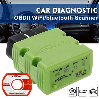 NEW KONNWEI KW902 ELM327 WiFi bluetooth OBDII Car Diagnostic Scanner For
