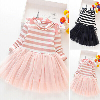 Children Dress Kids Toddlers Birthday Autumn Princess Dress Girls Party
