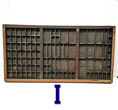 Vintage Printers Wooden Type Drawers Letterpress Case Wood Tray *I*