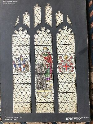 Stained Glass Cartoon Original Drawing Luxford Studios 1955