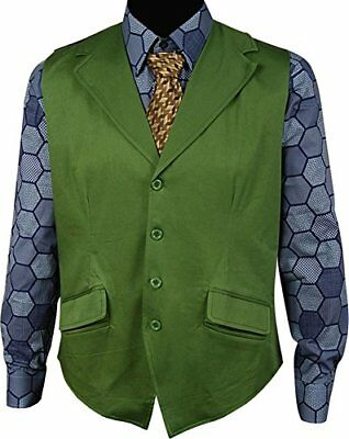 Batman The Dark Knight Joker Cosplay Costume  Green Vest + Hexagon Shirt + Tie