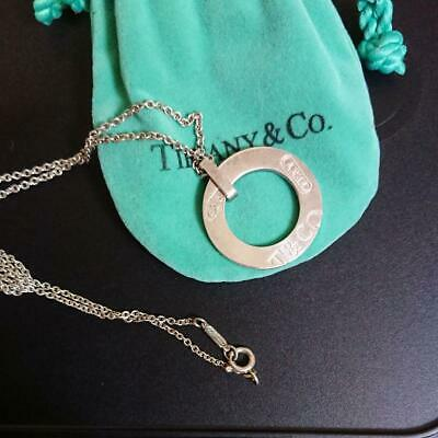 Tiffany & Co. Authentic 1837 Round Circle Pendant Necklace Sterling Silver 925