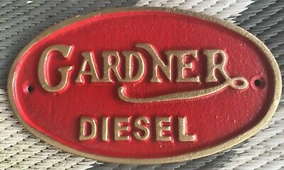 Gardner Diesel Engines Plaque 21cm Cast Iron Retro Marine Bus Lorry Train