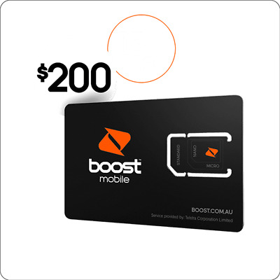 Boost Mobile Prepaid SIM card 6 months 150GB data UNLIMITED Calls SMS Overseas