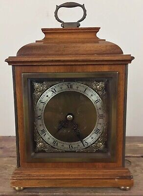 Elliott London Walnut Desk Bracket Clock England 8.5X5.5X2.75 Inches Runs Great