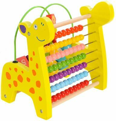 Wooden Abacus Number Frame Learning Math Toy Calculation Educational Teaching
