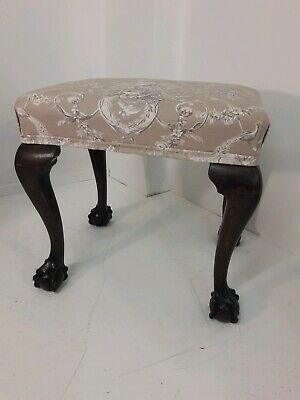 Early 20th Century Upholstered Toile de Jouy Stool