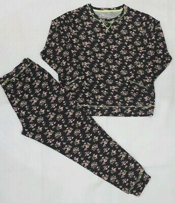 Ladies Long Sleeve Floral Print Cuffed Pyjama Set PJ'S Nightwear ALL SIZES- NEW