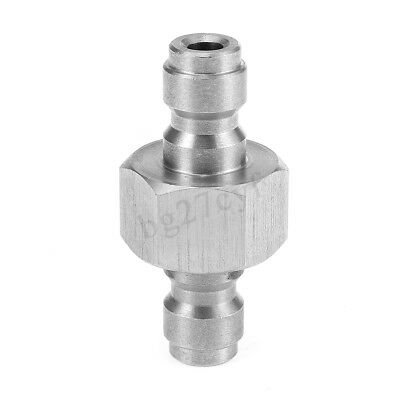 8mm Stainless Steel Paintball PCP Condor Copper Double Male Head Quick Connector
