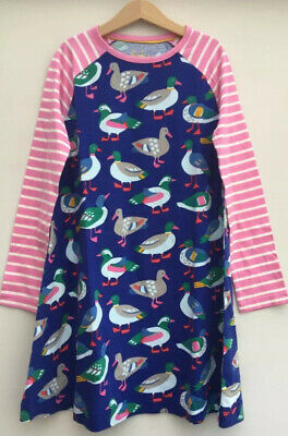 NEW Mini Boden Duck Print Tunic Dress Age 7 - 8 Years Retails for £22