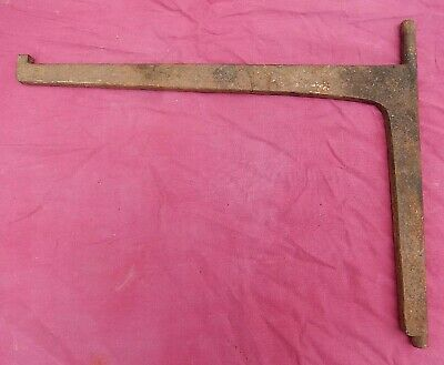 Antique Hand Forged Smaller Wrought Iron Fireplace Crane Blacksmith Made