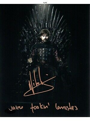 Game of Thrones Nikolaj Coster-Waldau signed Jaime Lannister color 8x10 JSA