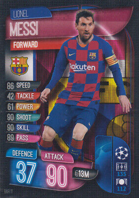 Topps Champions League 19 20 2019 2020 BAR11  Lionel Messi