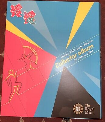 Royal Mint Uncirculated 2012 Olympic Full 50p Sports Collection + the Completer