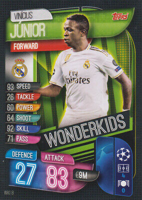 Topps Champions League 19 20 2019 2020 WKI8  Vinicius Junior Wonderkids