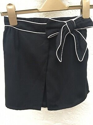 Next Girls Black With White Edged Bow Detail, Skort. Age 10 Perfect For Parties