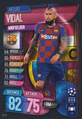 Topps Champions League 19 20 2019 2020 BAR14  Arturo Vidal