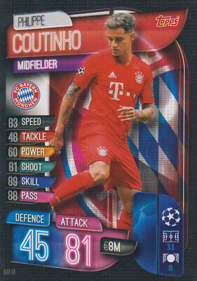 Topps Champions League 19 20 2019 2020 BAY14  Philippe Coutinho