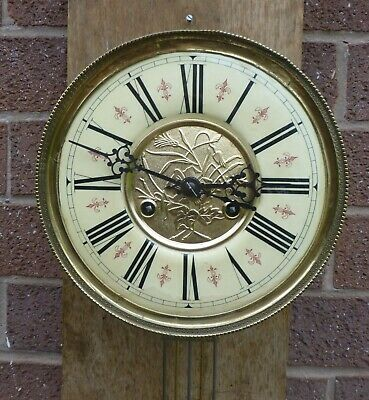 Vienna Wall Clock Movement stamped with makers name Early 1900's