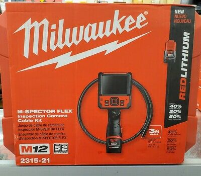 Milwaukee 2315-21 M12 M-Spector Flex Inspection Camera Cable Kit
